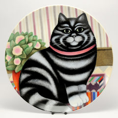 Decorative Cat Plate, Department52  Cat on mat, by Martin Leman