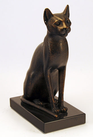 Egyptian bastet cat figurine  du louvre reproduction