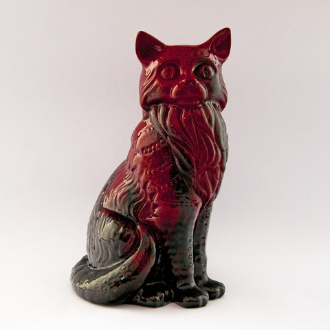 royal doulton flambe cat