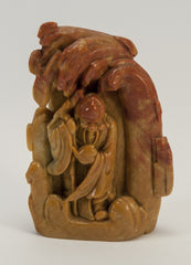 small carved soapstone wiseman inset 010