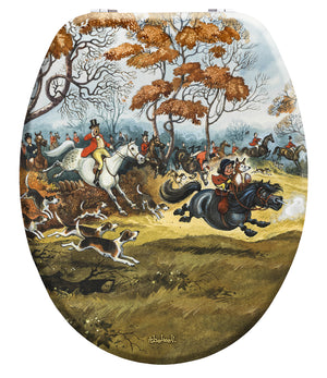 Full Cry - Norman Thelwell - Toilet Seat.