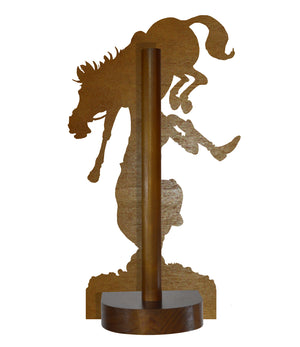 Equestrian (Bryn Parry ) - Printed Wood Toilet Roll / Kitchen Roll Holder.