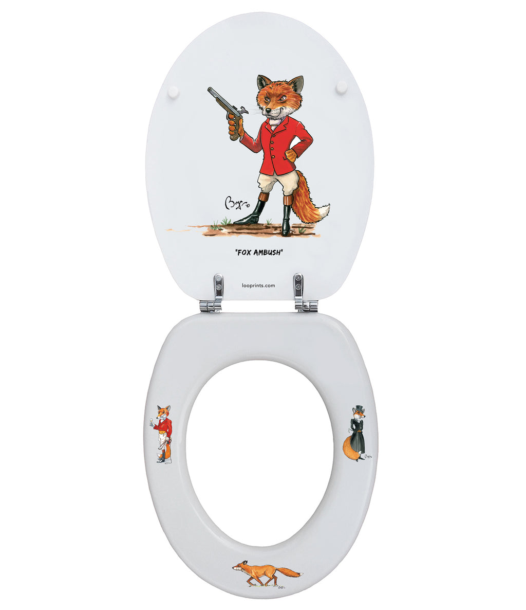 Mr & Mrs Fox - Bryn Parry - Toilet Seat.