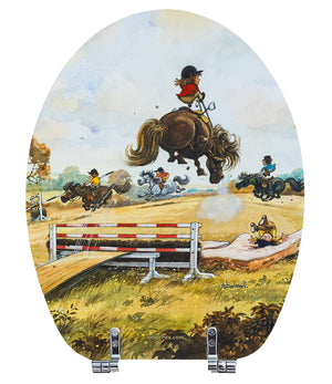 Riding School - Norman Thelwell - Toilet Seat.