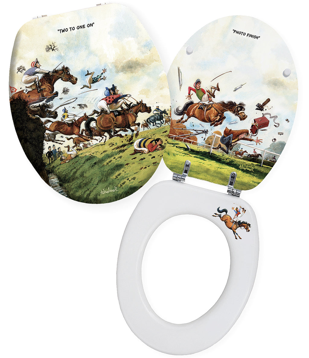 Two To One On - Norman Thelwell - Toilet Seat.