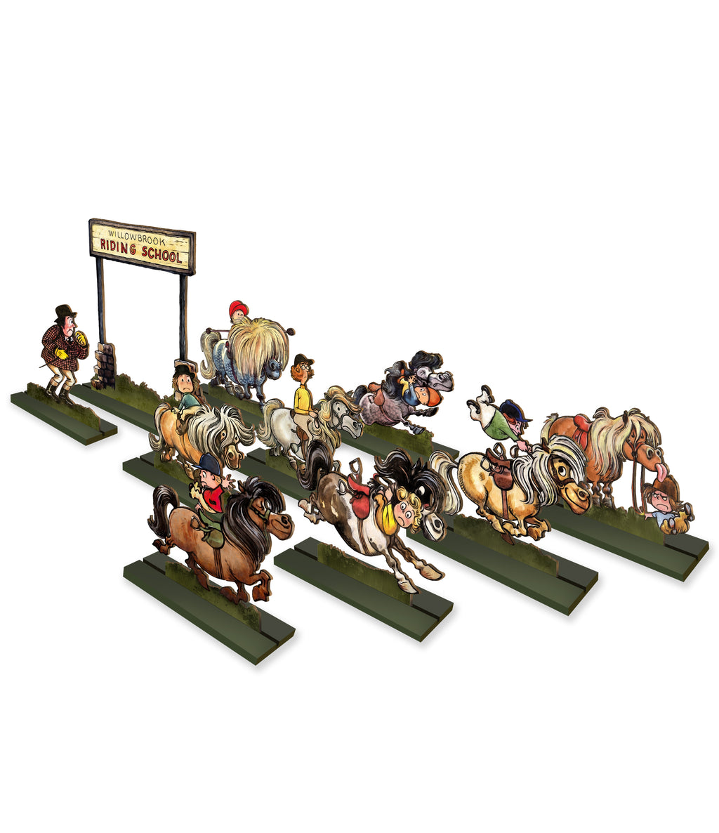Riding School ( Norman Thelwell ) - Ornamental Wood Cut