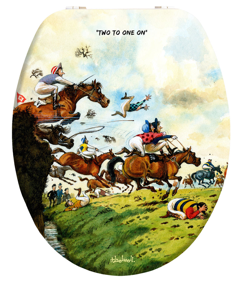 Two To One On - Norman Thelwell - Toilet Seat - Coming Soon