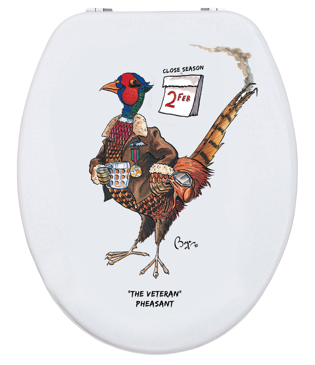 The Veteran Pheasant - Bryn Parry- Toilet Seat.