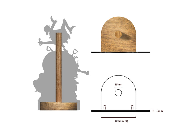 Stirrup Cup (Normal Thelwell ) - Printed Wood Toilet Roll / Kitchen Roll Holder.