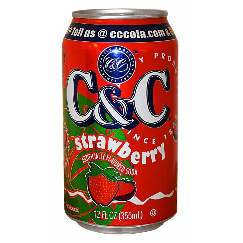 C&C strawberry can