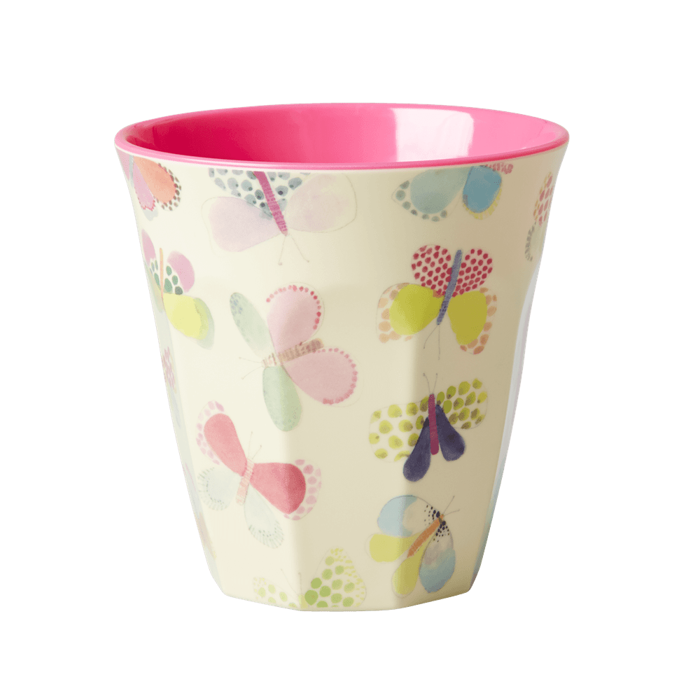 Medium Melamine Cup, Butterfly Print