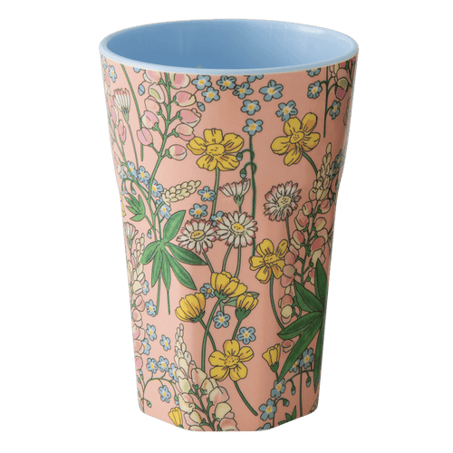 Tall Melamine Latte Cup, Lupin Print - Gazebogifts