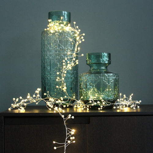 Pearl Cluster String Lights Mains Operated - Gazebogifts