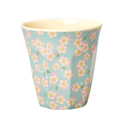 Medium Melamine Cup, Blue Floral Print - Gazebogifts