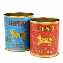Load image into Gallery viewer, Set of 2 Leopard Storage Tins - Gazebogifts