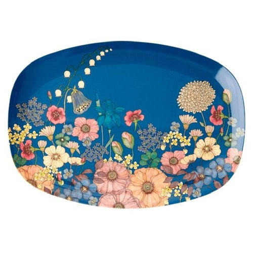Rectangular Melamine Plate, Flower Collage Print - Gazebogifts