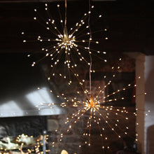 Load image into Gallery viewer, Hanging Starburst Light - Copper - Mains Operated - Gazebogifts
