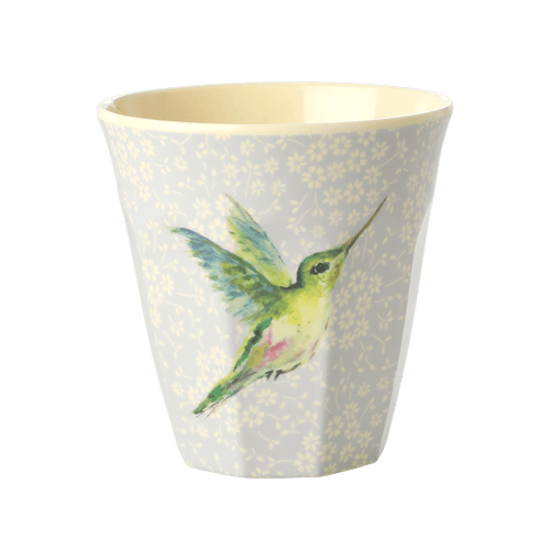 Medium melamine cup, Vintage Hummingbird Print - Gazebogifts