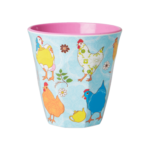 Medium Melamine Cup, Blue Hen Print - Gazebogifts