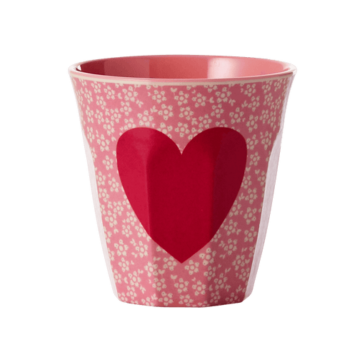Medium Melamine Cup, Heart Print - Gazebogifts