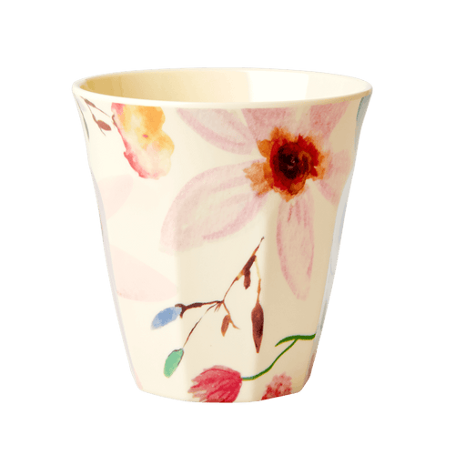 Medium Melamine Cup, Selmas Flower Print - Gazebogifts