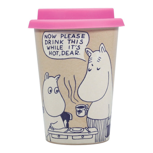Moomin Travel Mug, Drink This While It's Hot. - Gazebogifts