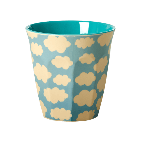 Medium Melamine Cup, Blue Cloud Print - Gazebogifts