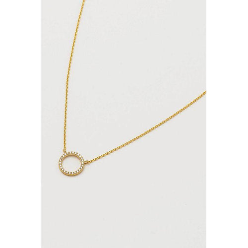 Estella Bartlett Gold Plated CZ Open Circle Necklace - Gazebogifts