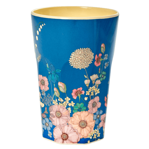 Tall Melamine Latte Cup, Flower Collage Print - Gazebogifts