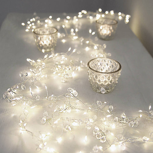 Crystal Cluster String Lights, Mains Operated - Gazebogifts
