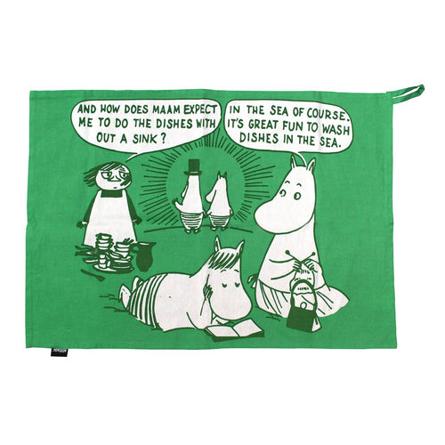 Moomin Tea Towel in a Tin - Gazebogifts