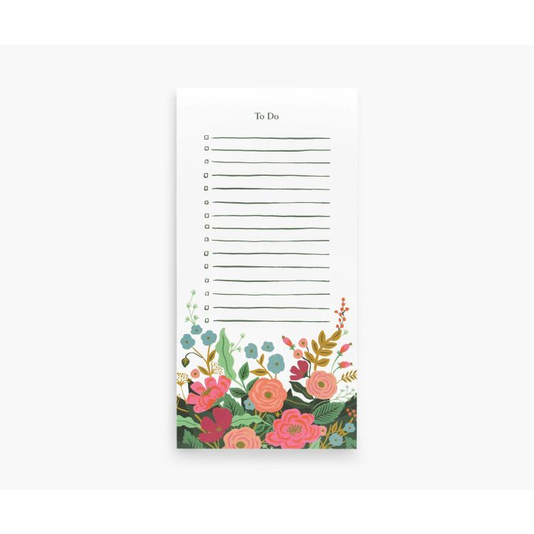 Rifle Paper Co. Floral Vines Market Pad - Gazebogifts