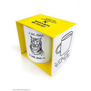 David Shrigley I Eat People Boxed Mug - Gazebogifts