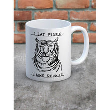 Load image into Gallery viewer, David Shrigley I Eat People Boxed Mug - Gazebogifts