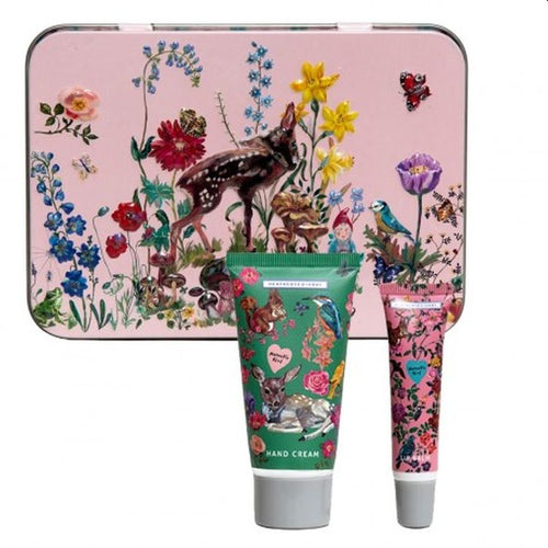 Nathalie Lete Forest Folk Hand & Lip Tin with 50ml Hand Cream & 10ml Lip Balm - Gazebogifts