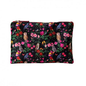 Nathalie Lete Forest Folk Large Velvet Wash Bag - Gazebogifts