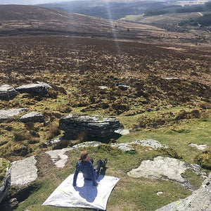 Picnic Mat by Pacmat - OS Map of Dartmoor - Gazebogifts