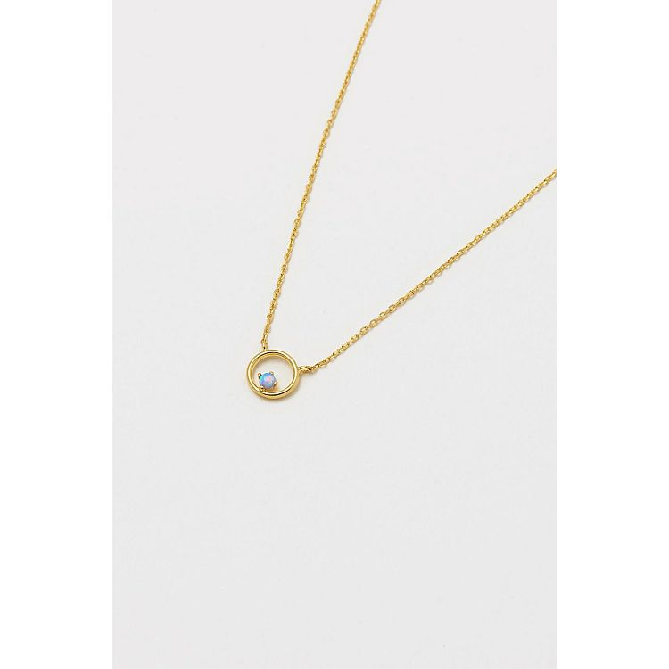 Estella Bartlett Gold Plated Opal Cirlce Necklace - Gazebogifts