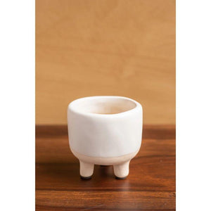 White Earthenware Planter - Gazebogifts