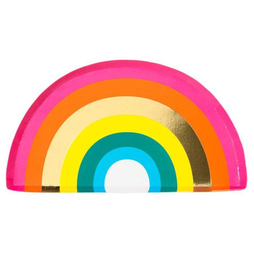 Rainbow Shaped Paper Plates - Gazebogifts