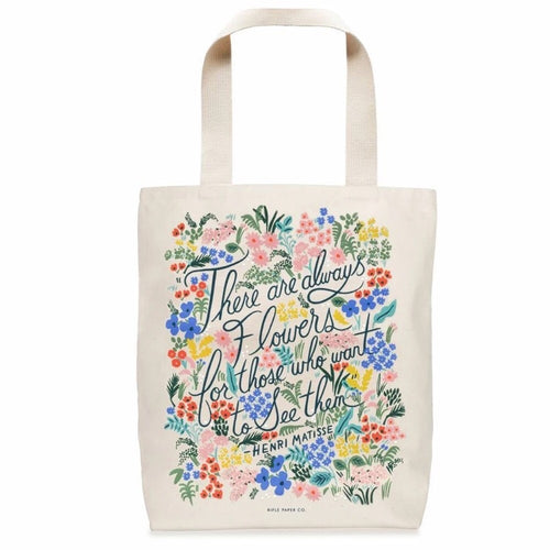 Flowers Cotton Tote Bag - Gazebogifts