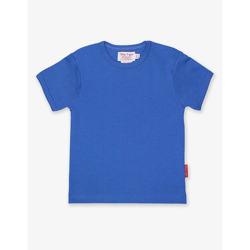 Organic Cotton Children's T-Shirt by Toby Tiger - Blue - Gazebogifts
