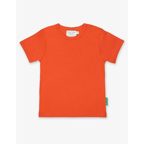 Organic Cotton Children's T-Shirt by Toby Tiger - Orange - Gazebogifts