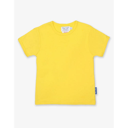 Organic Cotton Children's T-Shirt by Toby Tiger - Yellow - Gazebogifts