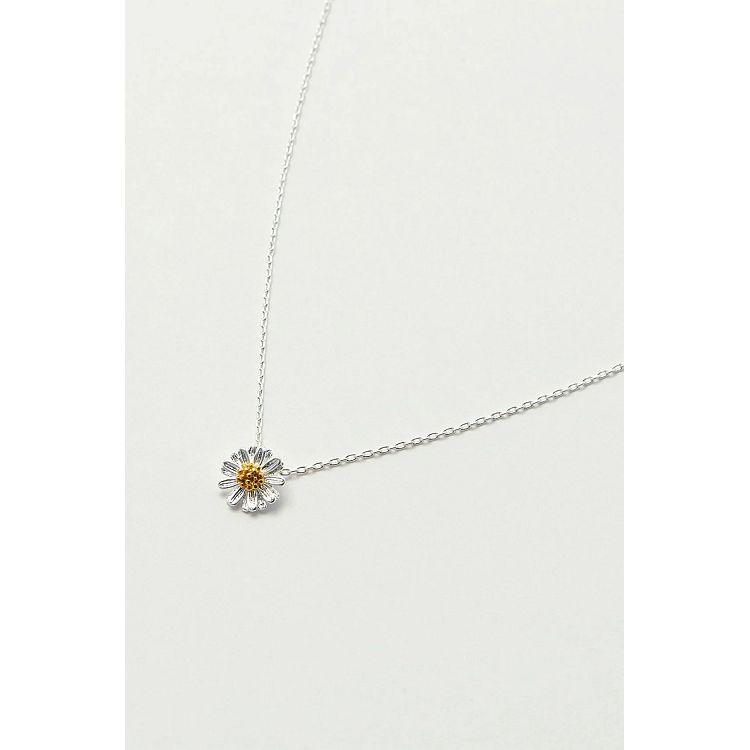 Estella Bartlett Silver Plated Wildflower Necklace - Gazebogifts