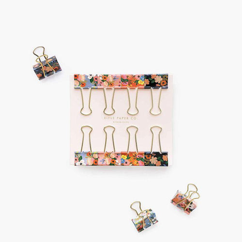 Rifle Paper Co. Lively Floral Binder Clips - Gazebogifts