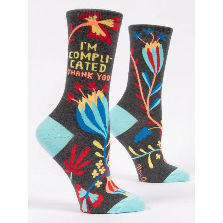 I'm Complicated. Thank You. Women's Crew Socks by Blue Q - Gazebogifts
