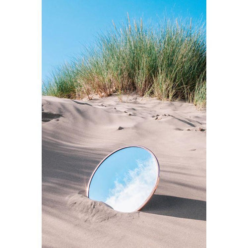 Round Mirror with Copper Frame - Gazebogifts