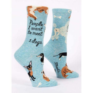 People I Want To Meet: Dogs W-Crew Socks - Gazebogifts