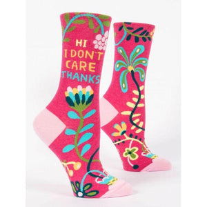 Hi, I Don't Care, Thanks W-Crew Socks - Gazebogifts